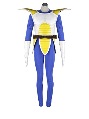 Mtxc Men's Dragon Ball Cosplay Costume Vegeta 1st Kid Size Large Blue (Vegeta Costume For Kids)