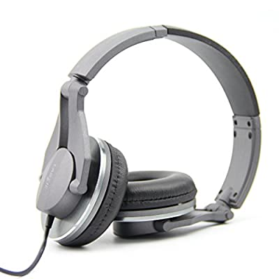 Labsic DJ1000 On-Ear headphones DJ Style headphones High-Definition rofessional Studio Monitor Headphones,3.5mm stereo jack (Retail packaging included 1/4-inch adapter) from Labsic