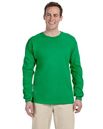 Fruit of the Loom Heavy Cotton HD 100% Cotton Long Sleeve T-Shirt, 2XL, Kelly