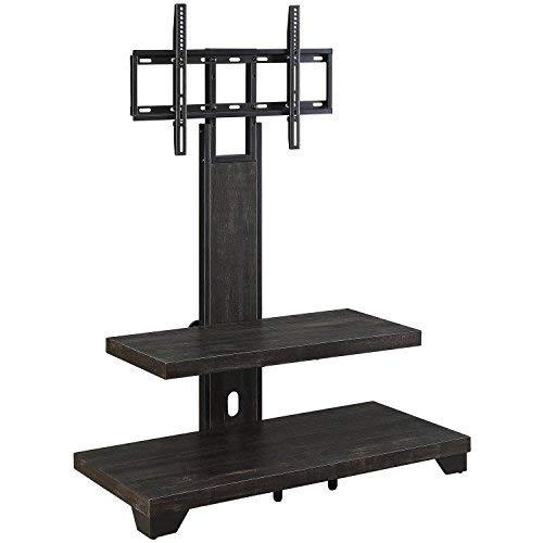 Finish Pine Dark - Whalen 2-Shelf Television Floater Mount for TVs up to 55