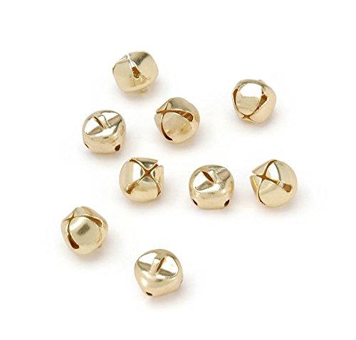 ArtVerse RetailSource Cascabeles navideños, Dorados, 9.5 mm, 72 Piezas, Dorado, 72 Bells, 1