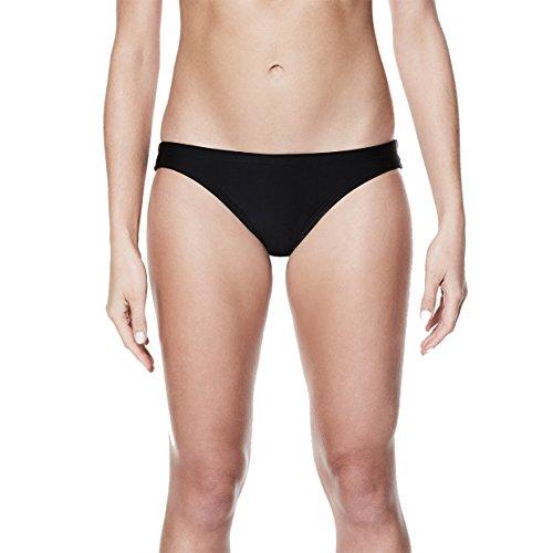 NIKE NESS8087 Women's Solid Bikini Bottom, Black - Large