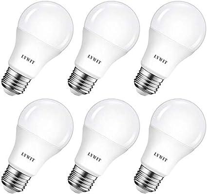 LVWIT Bombillas LED A60, Casquillo E27, 8.5W equivalente a 60W, 6500K Luz Blanca Fría, 806 lm, Bajo consumo, No regulable - Pack de 6 Unidades.: Amazon.es: Bricolaje y herramientas