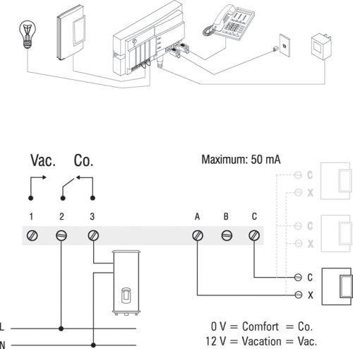 Aube por Honeywell CT240 - 01/U Teléfono termostato controlador de bajo voltaje: Amazon.es: Bricolaje y herramientas