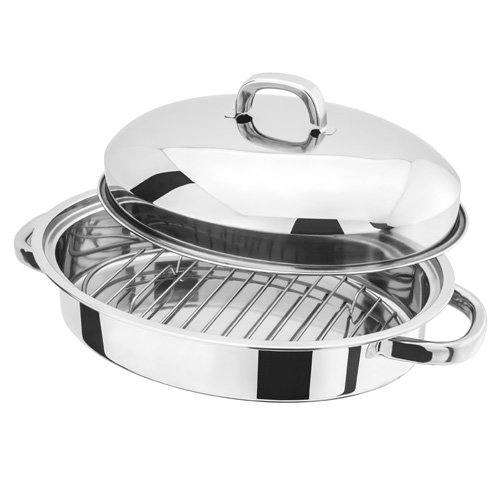 Judge Stainless Steel H017 32 x 23 x 15 centimetre Roasting Pan with Rack Horwood