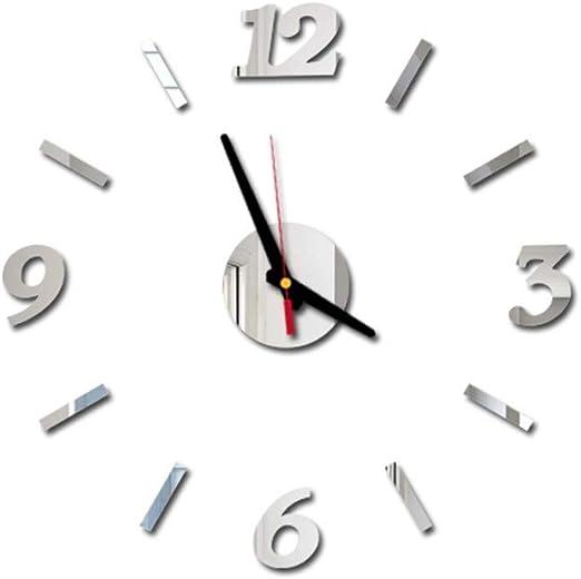 Koperras 1 Pcs /Stickers Muraux ,Horloge Murale Acrylique Sticker Mural Chambre//Salon Auto-Collant Adh/éSif Amovible R/éUtilisable Sticker Mural Autocollants Affiche D/éCoration Murale