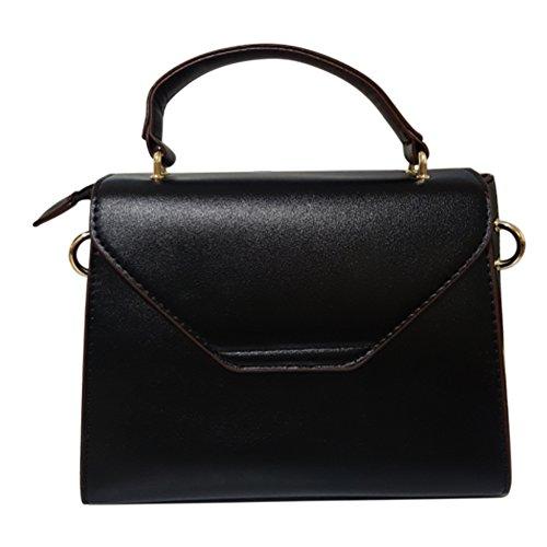 Crossbody Femenino Bolsos Pu Hombro Negro Para Las Bolso Cuero Bag Mujeres Messenger De Skll Señoras Mano La Ipx0w7