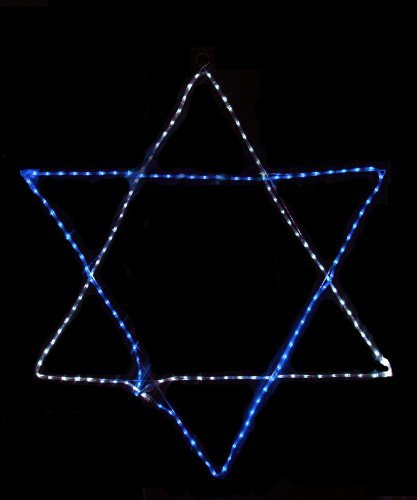 60'' Blue and White LED Rope Light Star of David Hanging Hanukkah Decoration by Vickerman