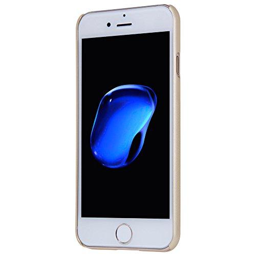 Nillkin Frosted Shield - Rückwertiges starres Schongehäuse, rutschfest + Kunststoff-Displayschutzfolie für iPhone 7 Plus - Vergoldet