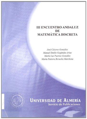 Descargar Libro Iii Encuentro Andaluz De Matemática Discreta Mª Luz Puertas González