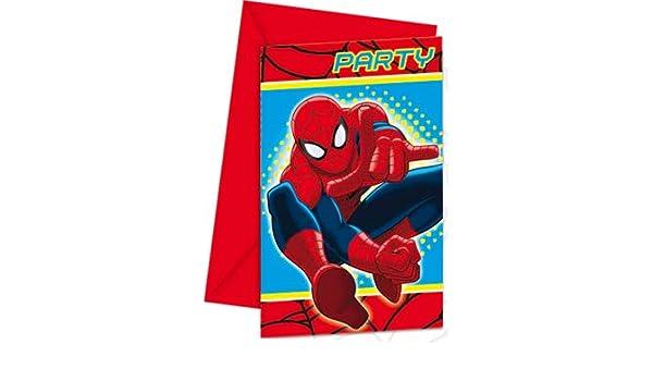 COOLMP Lote de 12 Invitaciones de Spiderman, tamaño único ...
