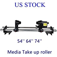 110V Automatic Media Take up Reel Roller System Paper Pick Up Roller Controller for Roland FJ540 SP540 VP540 Mimaki Mutoh Printers-US STOCK