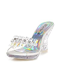 Diamond Beaded sandals and slippers Platform Chic Open Toe Heel Graceful Party Women's Sandals ALBBG