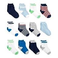 Baby Boys' 12-Pack Socks