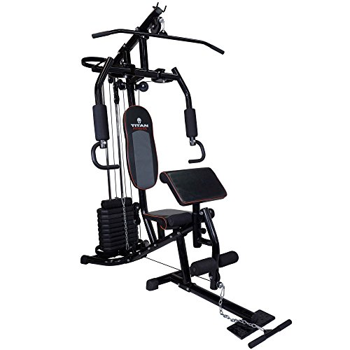 Titan 150 lb Stack Home Gym Total Fitness Strength Equipment Exercise by Titan Fitness