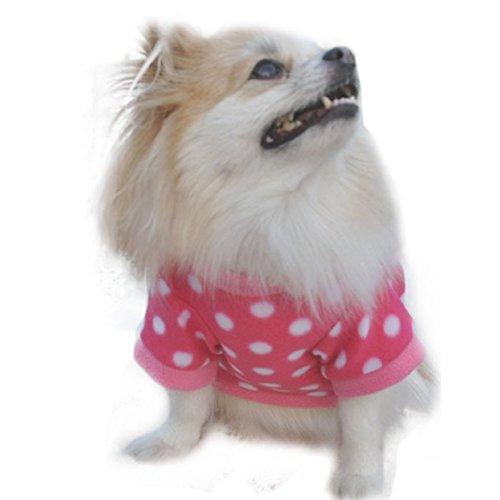 Perman 2016 Fashion Cute Pet Small Cat Dog Villus Clothes Puppy Fleeces T Shirt Clothing Hot (S, A)
