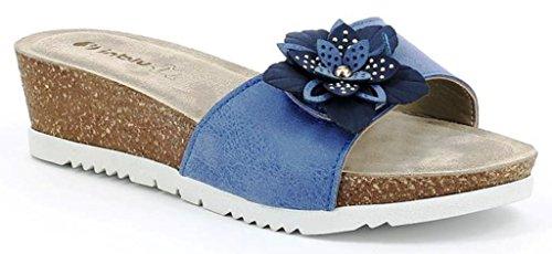 INBLU - Zapatillas de Material Sintético para mujer plateado Size: 40 c3HmyDjc