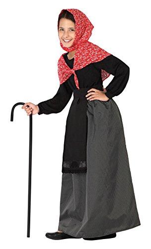 Atosa 26918 - Viejo señora, muchacha, tamaño 116, negro/rojo ...