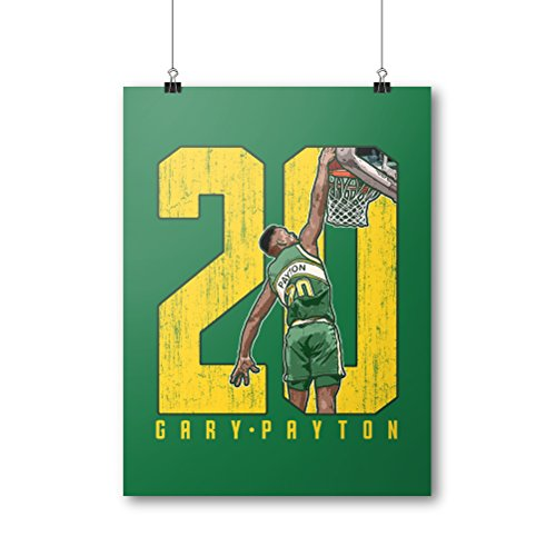- 500 LEVEL Gary Payton Cool Wall Poster For Old School Seattle Basketball Fans - Green 18