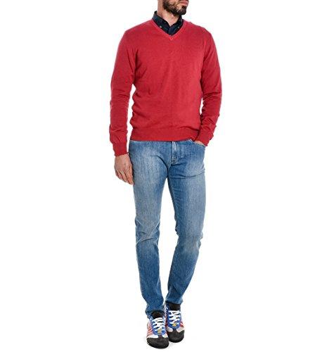 Fay Herren NMMC132242TBLRR400 Rot Baumwolle Sweater