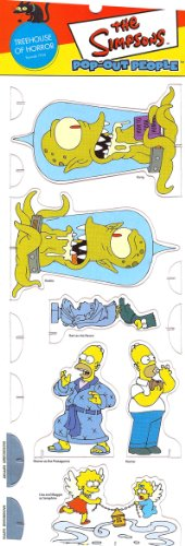 Simpsons Full Episodes Halloween (TREEHOUSE OF HORROR * Episode 7F04 * The Simpsons POP-OUT PEOPLE Characters & Background Set from Dark Horse)
