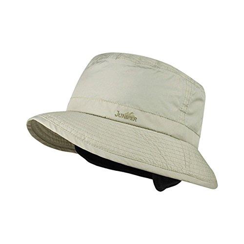 Hats & Caps Shop BUCKET HAT W/EAR & NECK WARMER - By TheTargetBuys | (KHAKI-SM)