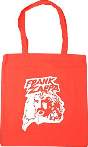 HippoWarehouse Frank Zappa Tote Shopping Gym Beach Bag 42cm x38cm, 10 litres Coral