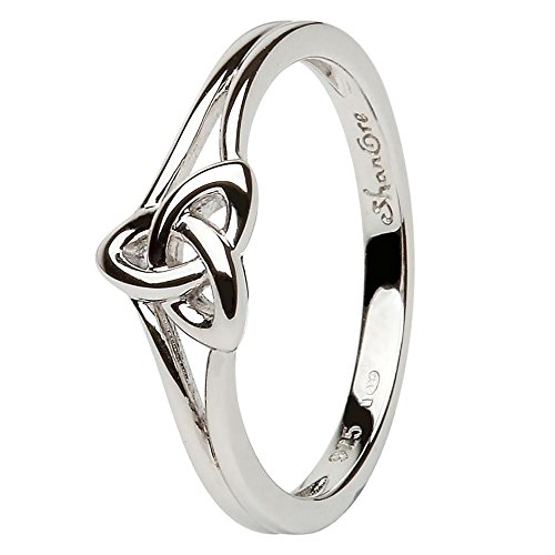 Women's Celtic Trinity Knot Ring LS-SL99 - Made in Ireland - Celtic Ring Trinity