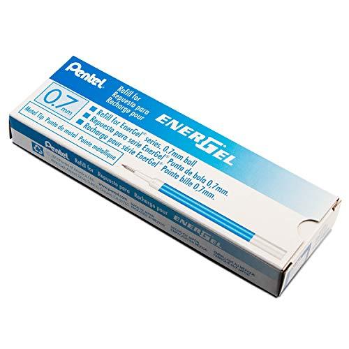 Pentel Refill Ink for BL57/BL77 EnerGel Liquid Gel Pen, 0.7mm, Metal Tip, Blue Ink, 1 - Pack (LR7-C)