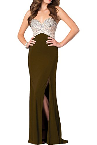 donna Bete sera da Marrone festa vestito Ivydressing abito kraftool alta da con di qualità strass Spaghetti Prodotto w7qPz88