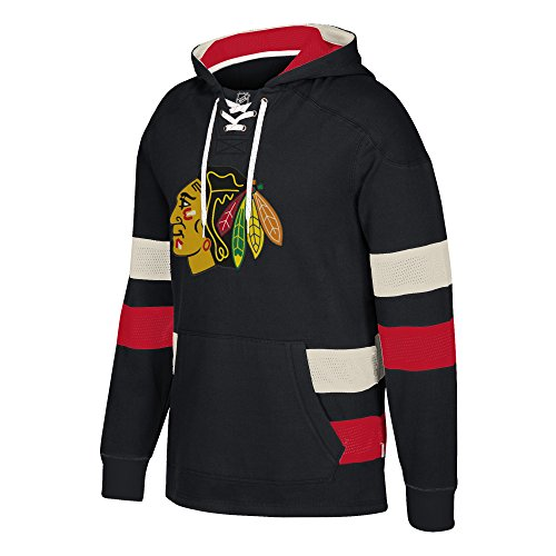 Black Nhl Pullover Sweatshirt (NHL Chicago Blackhawks Ccm Pullover Jersey Hood, Black, X-Large)