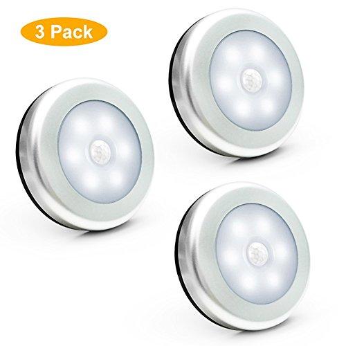 Motion Sensor Light, GenLed Motion-sensing Battery Powered LED Stick-Anywhere Nightlight,Wall Light for Entrance,Hallway,Basement,Garage,Bathroom,Cabinet,Closet (White)