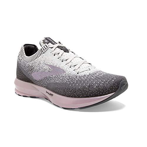 Brooks Womens Levitate 2 Running Shoe - Grey/Grey/Rose - B - 9.0
