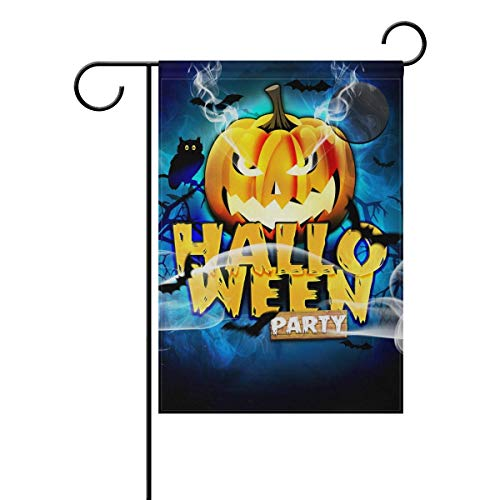 HOOSUNFlagrbfa Garden Flag Template Flyer for Halloween Night Garden Flag Stand for Patio Lawn Garden Indoor Outdoor Use 28