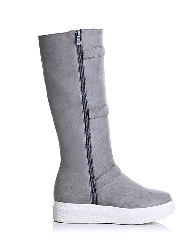 Plattform Stiefel Beute Rund Casual Beute Fleece Schuhe Stiefel Zehen Damen Fashion Damen Citior xqCY4RSw4