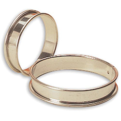 Matfer Bourgeat 371707 Small Flan Ring, Silver