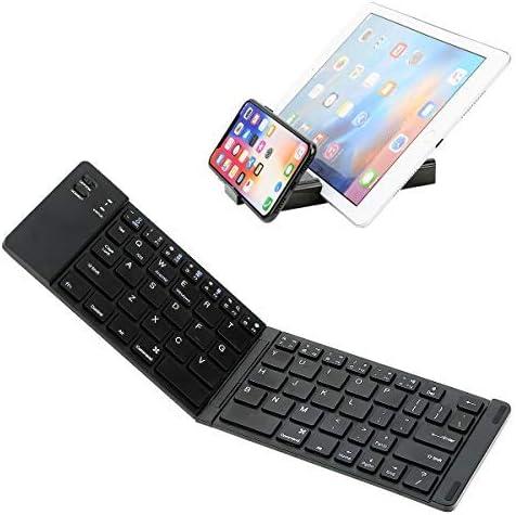 Teclado Bluetooth plegable, Teclado plegable ultra delgado IKOS BT para iPhone X 8 7 6S 6 Plus, iPad Mini / Pro / Air, Smartphones / Tabletas Android de Samsung y Dispositivo con sistema Windows