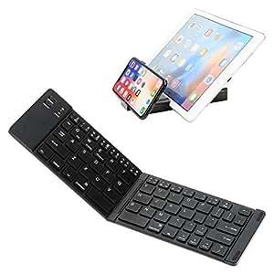 Teclado Bluetooth plegable, Teclado plegable ultra delgado IKOS BT para iPhone X 8 7 6S