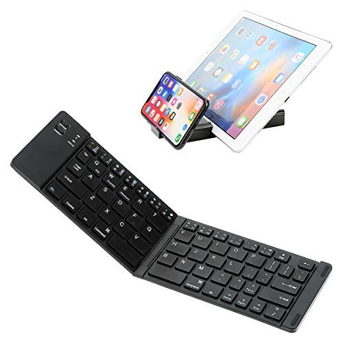 Mini Bluetooth Keyboard, IKOS BT fold Wireless Portable Ultra Slim for Apple Ipad Itouch iPhone x 5 8 7 6s 6 Plus ec iOS Android Windows System Tablet Laptop iMac MacBook ()