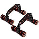 Readaeer Push up Pushup Bars Stands Handles Set for Men and Women Workout - Orange