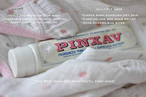 PINXAV Healing Cream, Fast Relief For Diaper Rash, Eczema, Chafing, Bed Sores, Acne, Minor Cuts & Burns (4 OZ)