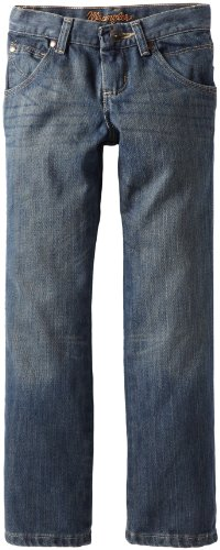 Wrangler Big Boys' Relaxed Fit Boot Cut Jeans, Night Sky, 16]()