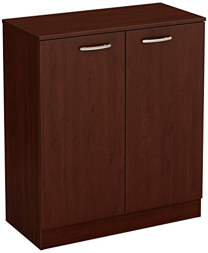 - South Shore Axess Small 2-Door Storage Cabinet, Royal Cherry