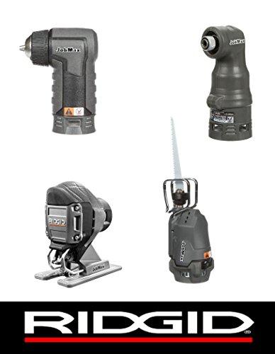 Ridgid Jobmax 4 Head Kit – Jig Saw, Reciprocating Saw, Imp