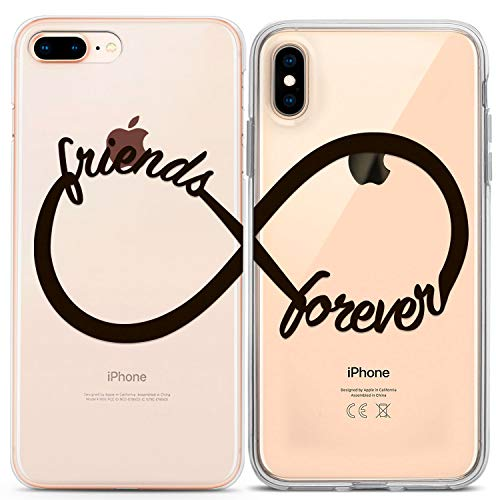 Lex Altern Couple iPhone Case Xs Max X Xr 10 8 Plus 7 6s 6 SE 5s 5 Friends Forever TPU Clear Black Cute Sorority Gift Him Her Phone Cover Best BFF Anniversary Matching Girly Top Simple Silicone Teen