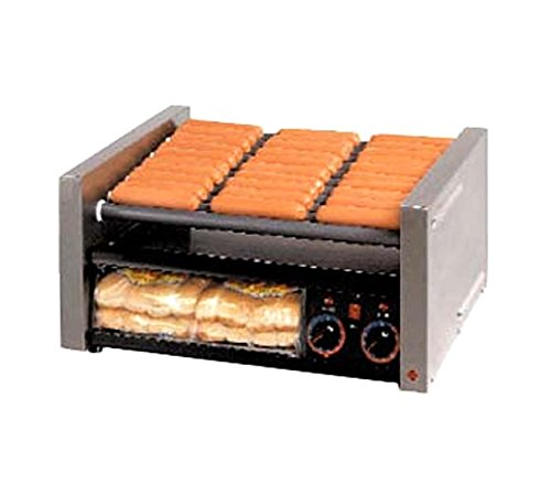 Star Manufacturing 30CBBC Grill-Max Roller Style Hot Dog Grill, w/Clear Door Bun Holder
