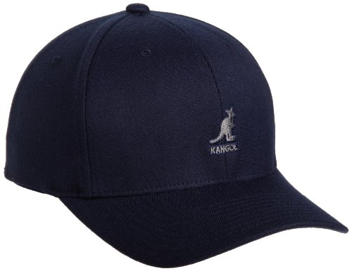 (Kangol Men's Wool Flex Fit Baseball, Dark Blue, Large/X-Large)