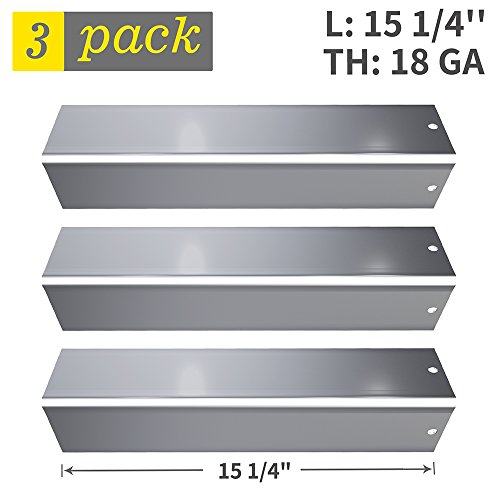 Stainless Steel Flavorizer Bar Replacement for Weber Spirit 200/E-210(2013 & Newer with Up Front Controls Panels), 3 Pack Grill Heat Deflector Plate Shield Burner Cover(SS-WB005) (Spirit Stainless Steel)