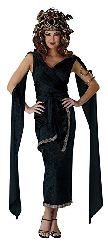 UHC Women's Sexy Deluxe Medusa Greek Goddess Fancy Halloween Themed Costume, One Size (12-14) (Medusa Sexy Costume)