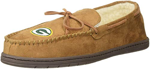 (Green Bay Packers Mens Moccasin Slipper Large)